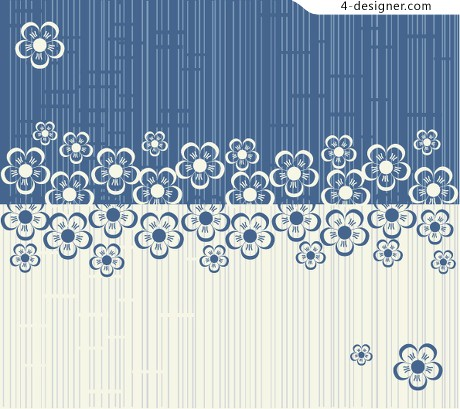 Hand painted pattern background vector design material
