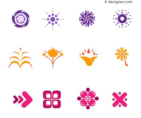 Icon design elements vector material