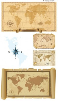 Old map vector material