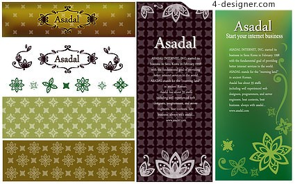Practical lace with pattern vector material