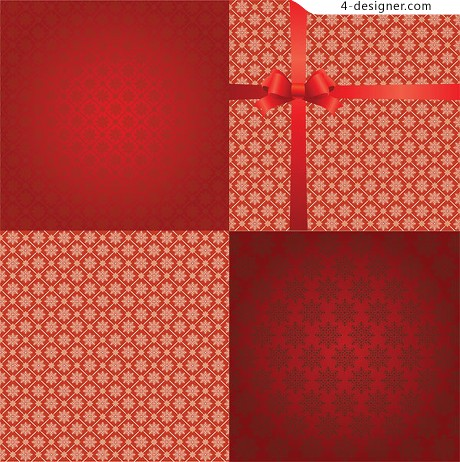 Practical snowflake background vector material