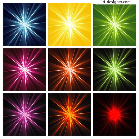 Shine a bright background vector material