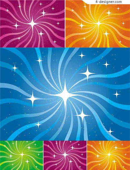 Spiral Stars background vector material