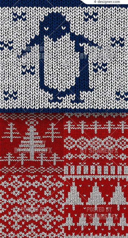 Sweater pattern vector material 1
