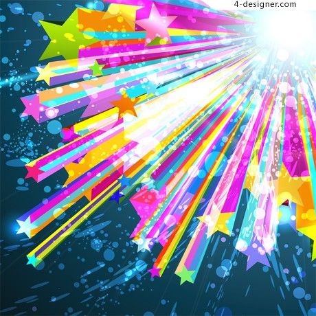 The trend of dynamic background vector material 01