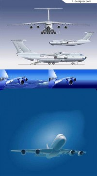 Variety of aircraft vector material