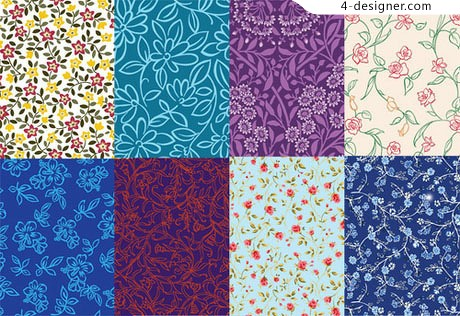 Variety of flowers shading vector material