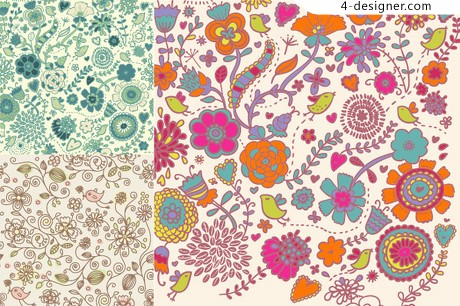 Cute pattern background vector material