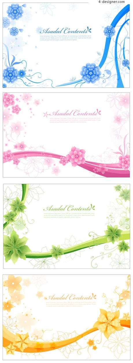 Elegant pattern background vector material