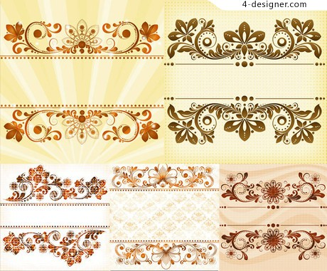 Decorative pattern background vector material