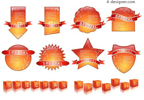 Simple and practical label vector material
