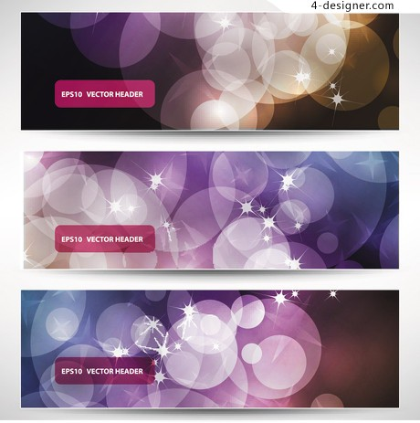 Fantasy Halo banner background template