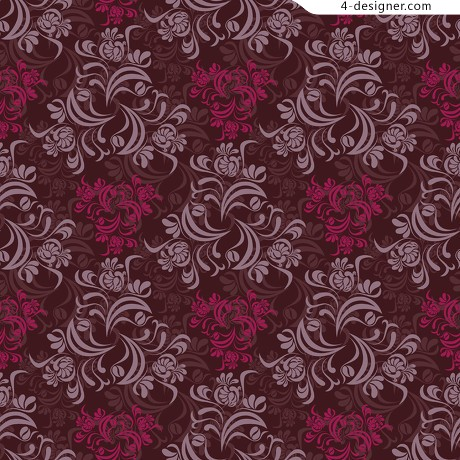Retro pattern background pattern vector material