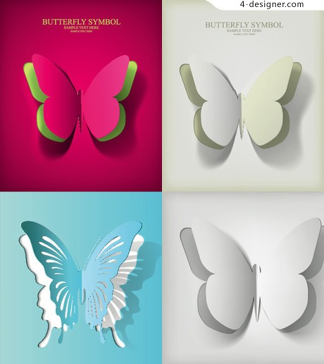 Beautiful butterfly background vector background