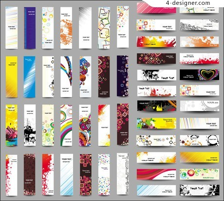 Colorful banners fashion BANNER vector material