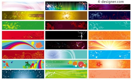 Practical beautiful banner banner background vector material