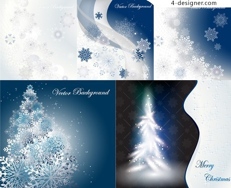 Snow falling winter background vector material