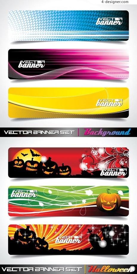 Creative background banner BANNER vector material