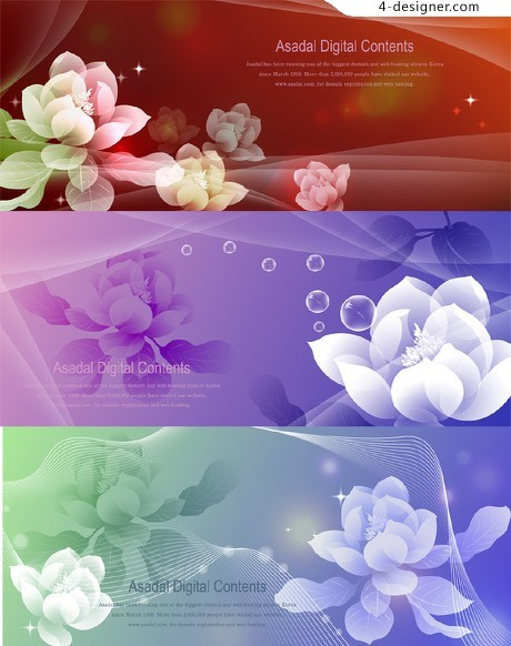 Dream decorative background pattern vector material