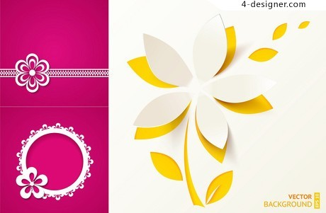 Paper flowers vector material