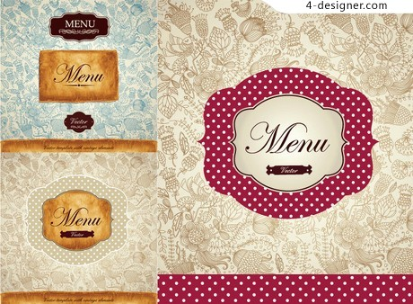 Beautifully packaged for recipes vector material