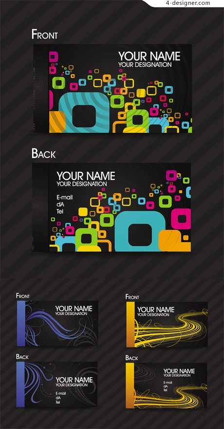Business card card background vector material