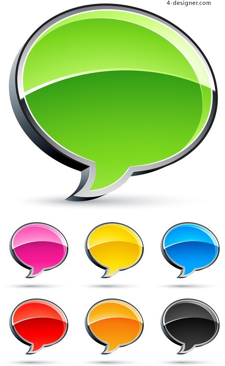 Color concise dialog vector material