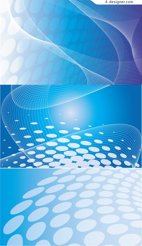 Dynamic abstract blue line vector material