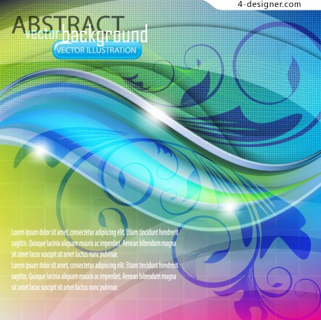 Dynamic flow pattern vector material