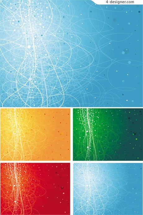 Gorgeous color lines background vector material