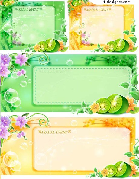 Lovely decorative pattern template vector material