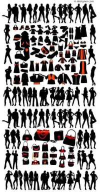 Mannequin silhouette vector material