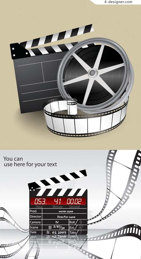Movie theme vector material