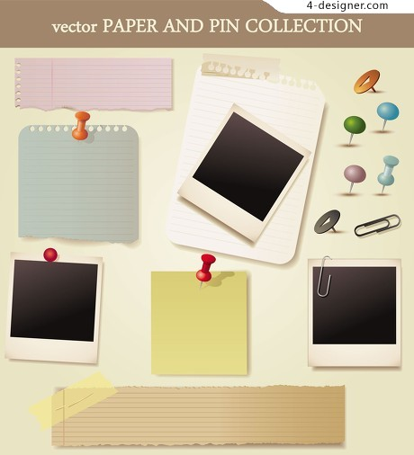 Notes cards vector material