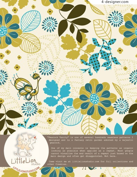 Pattern background vector material
