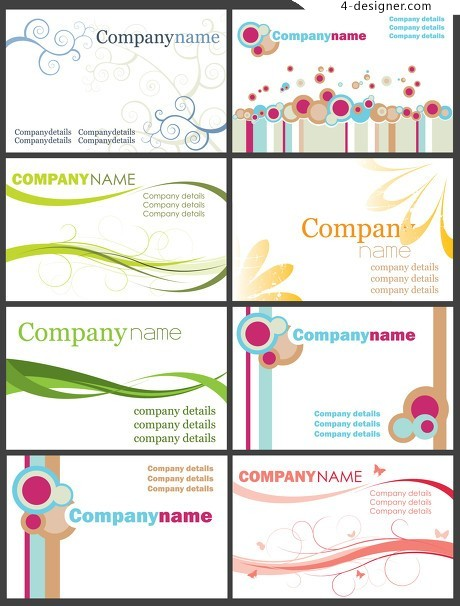 Simple business card design layout vector material