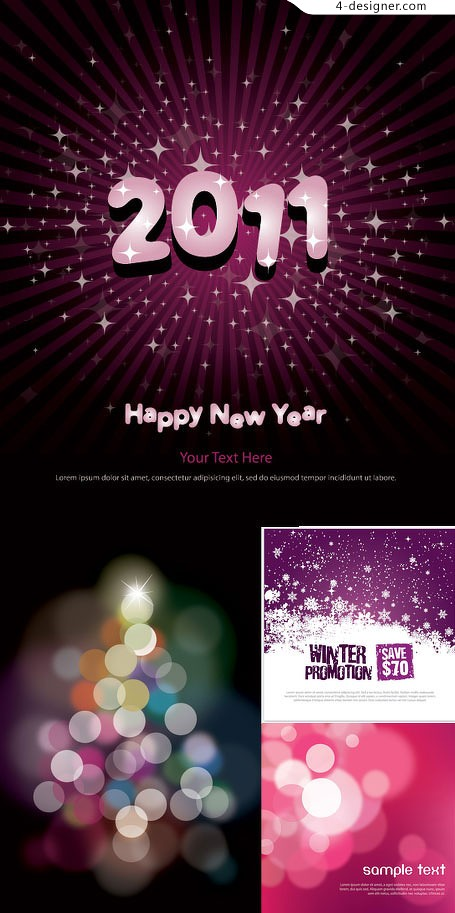 2011 Dream theme vector material