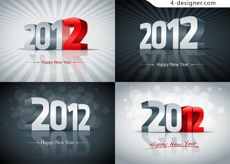 2012 theme vector material