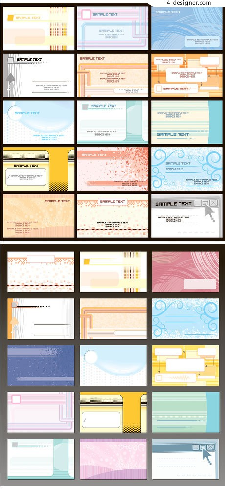 A variety of card template vector material