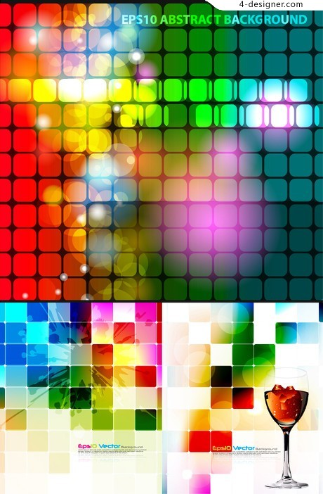 Behind plaid background Symphony vector material