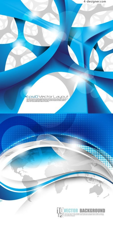 Blue and white structured background vector material