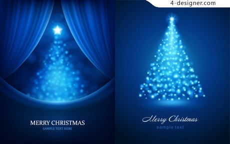 Christmas bright background vector material