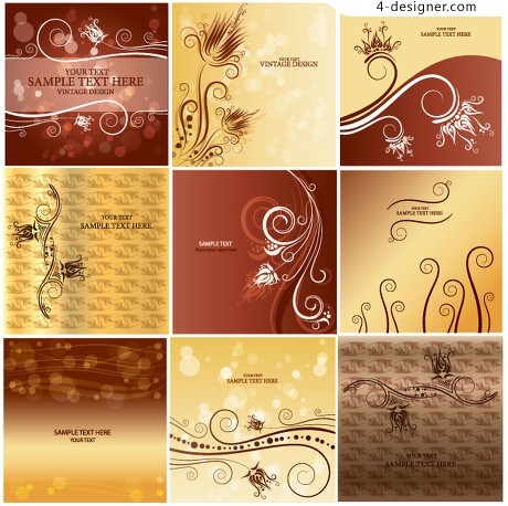 Classical pattern background pattern vector material