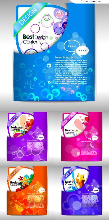 Colorful vector material