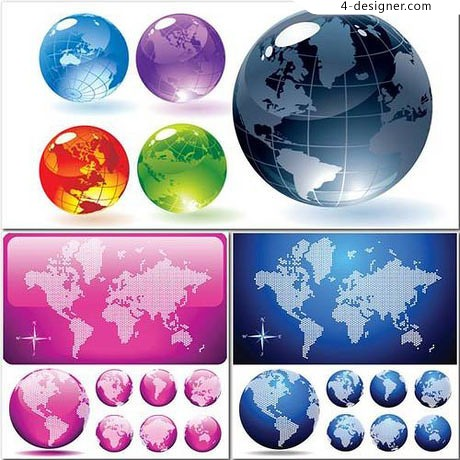 Crystal Earth Vector material