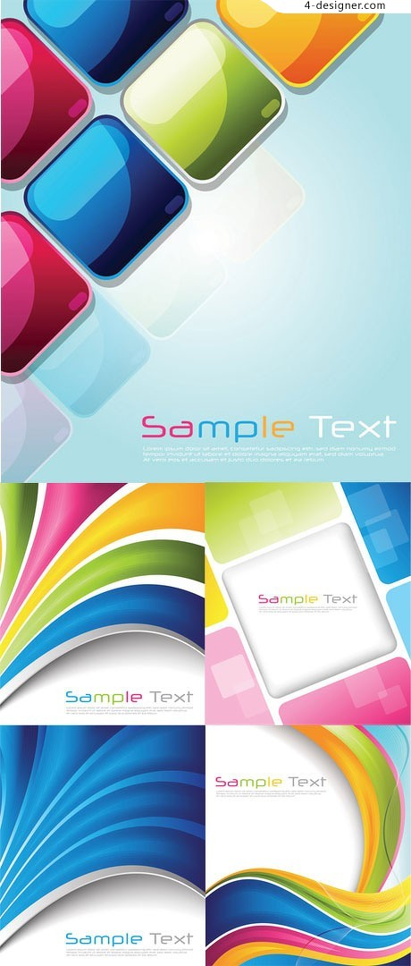 Crystal colorful stylish background vector material