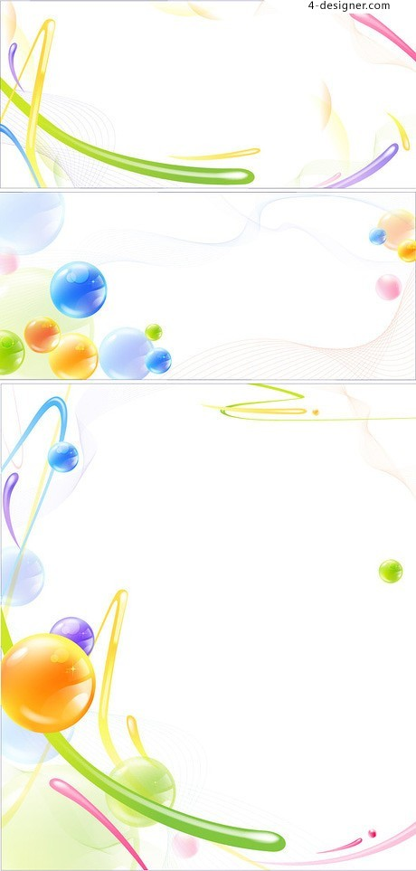 Crystal style colorful dynamic line vector material
