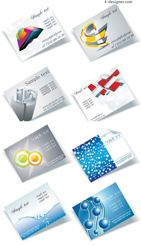 Dimensional business card background vector material