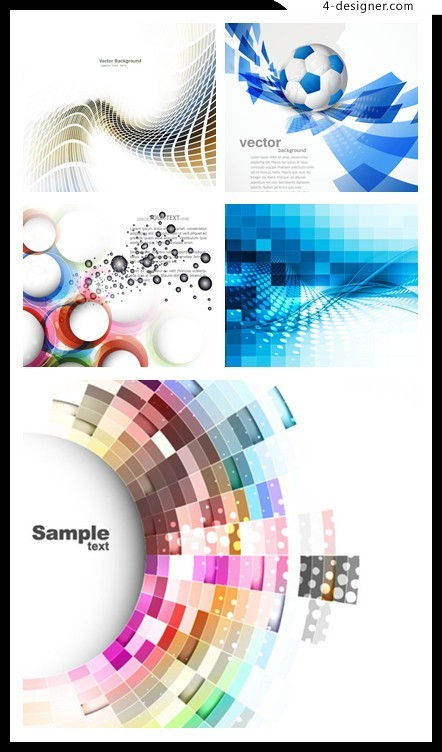 Elegant abstract background vector material