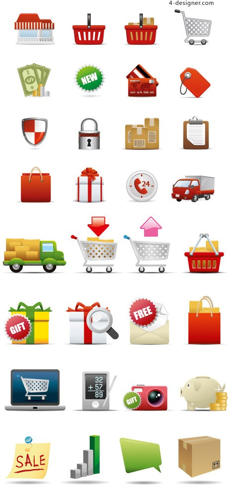 Everyday life icon vector material